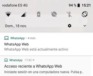 whatsapp web notificacion