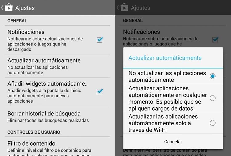 desactivar actualizaciones automaticas