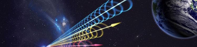 ondas de radio aproximandose a la tierra