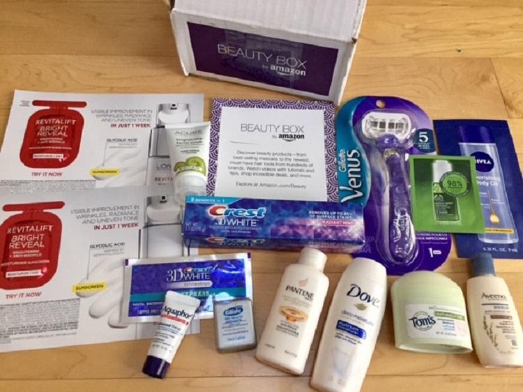 caja de muestras productos amazon